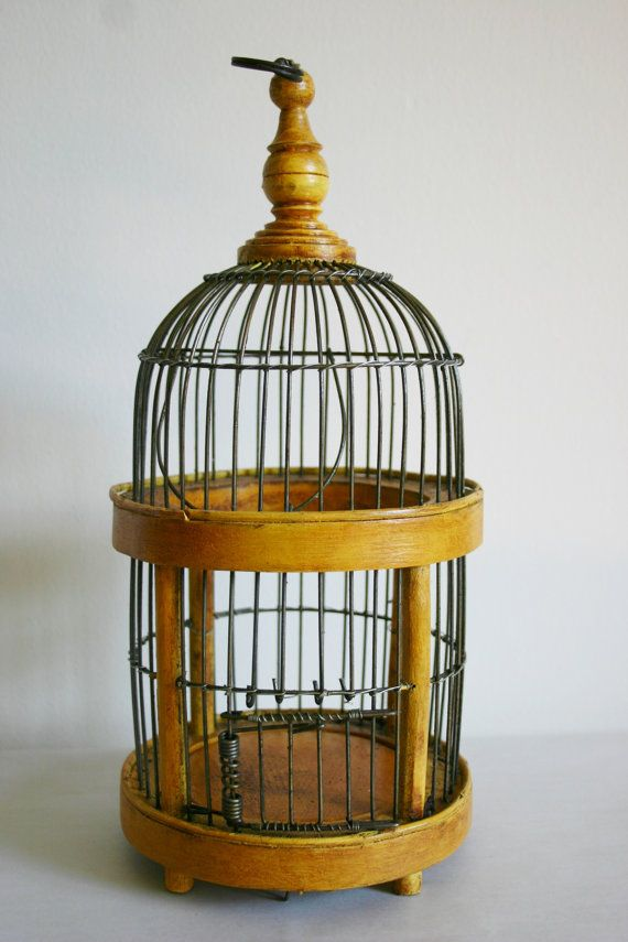 Wood And Metal Decorative Bird Cage by RelksReliks on Etsy