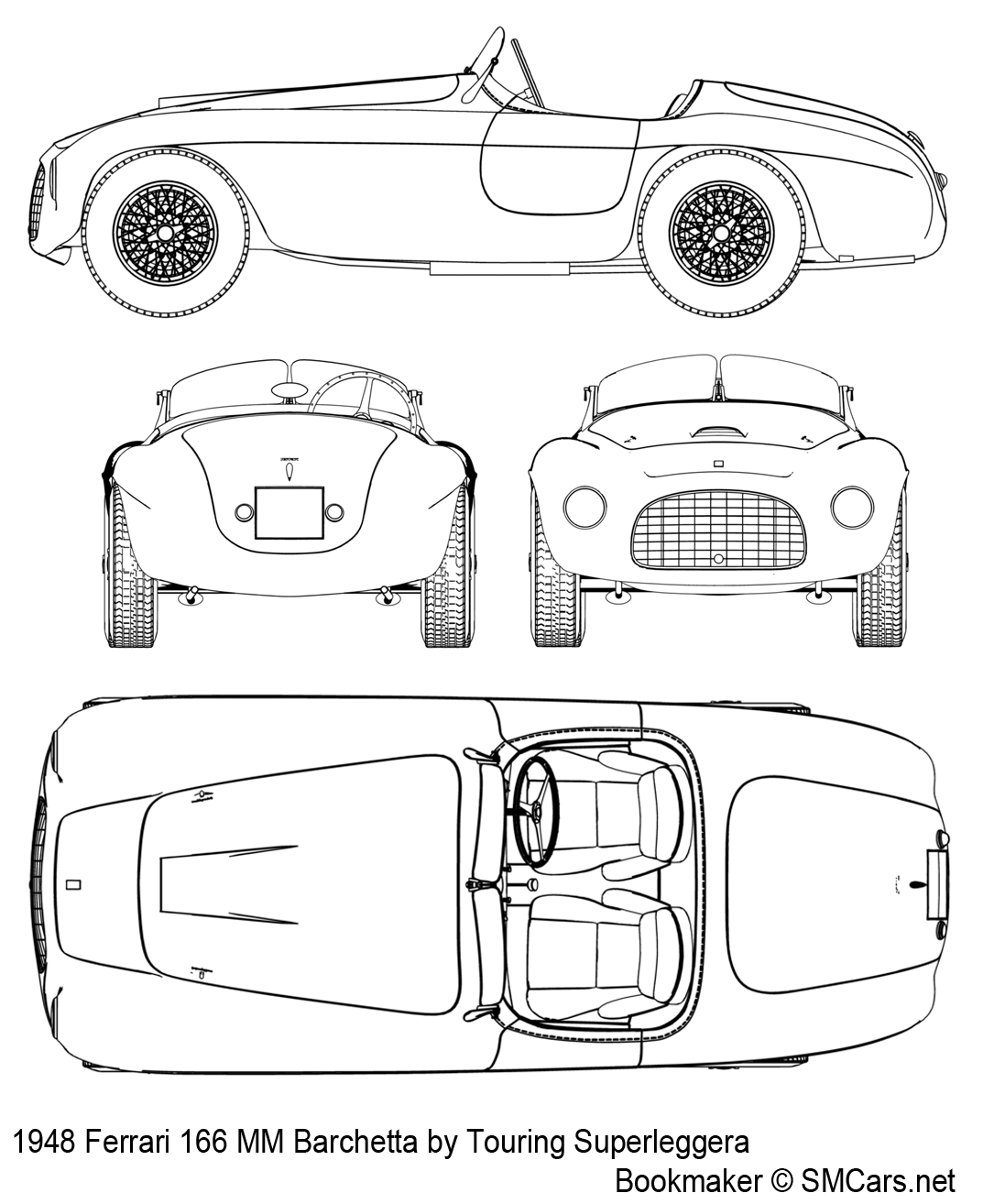 Ferrari 166 MM Barchetta (1948) | SMCars.Net   Car Blueprints Forum
