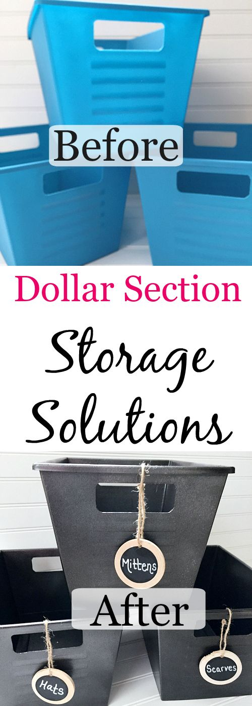 Storage Solutions from the Dollar Store - Lemons, Lavender, & Laundry #storagesolutions