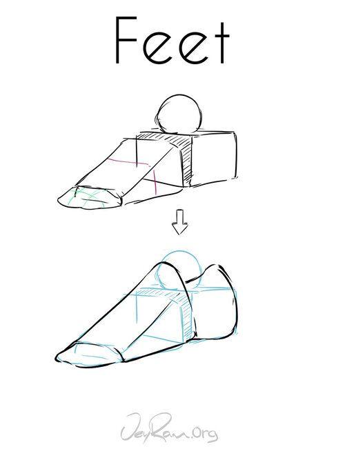 How to Draw Feet: Step by Step Tutorial - JeyRam Art