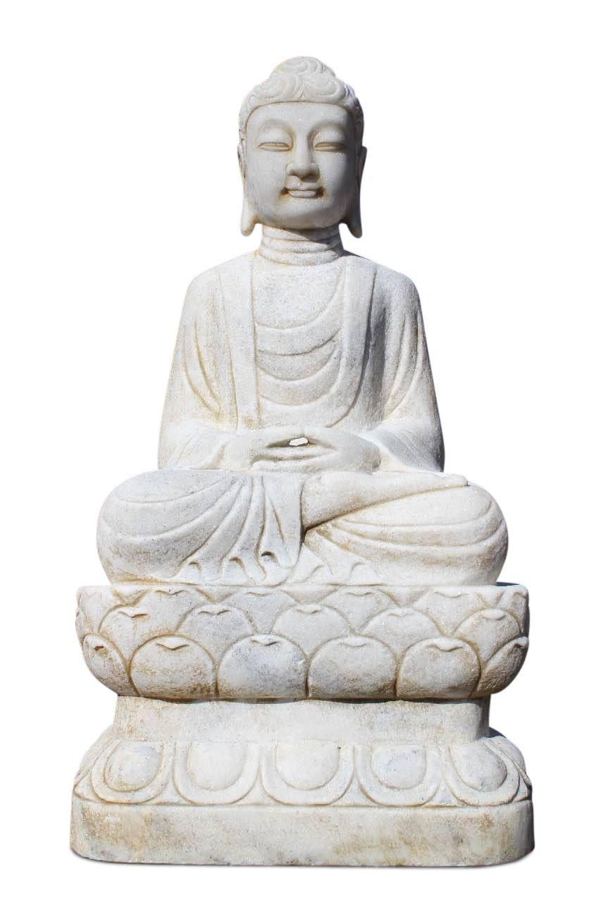 85 Cm Grosse Garten Buddha Figur Aus Marmorstein Witterungsbestandig Und Frostsicher Meditations Buddha Statue Buddha Deko Buddha Figur Buddha
