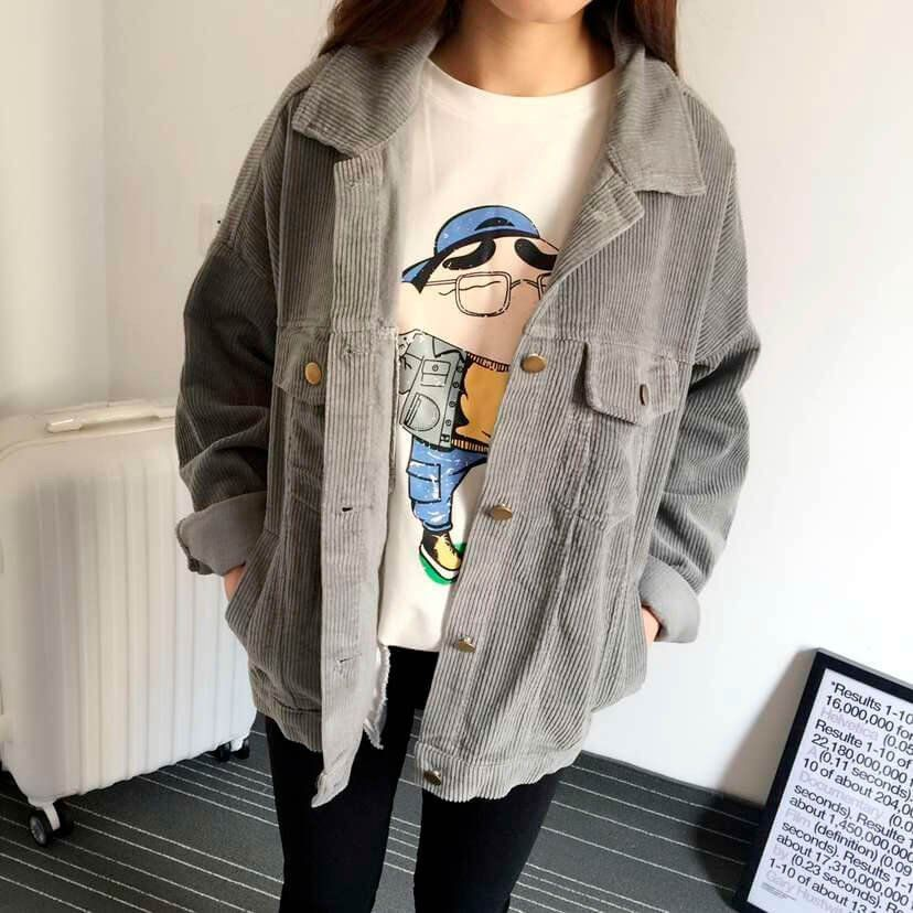 Corduroy Jacket At Online Store Kawaii Cheap Clothing As Aesthetic