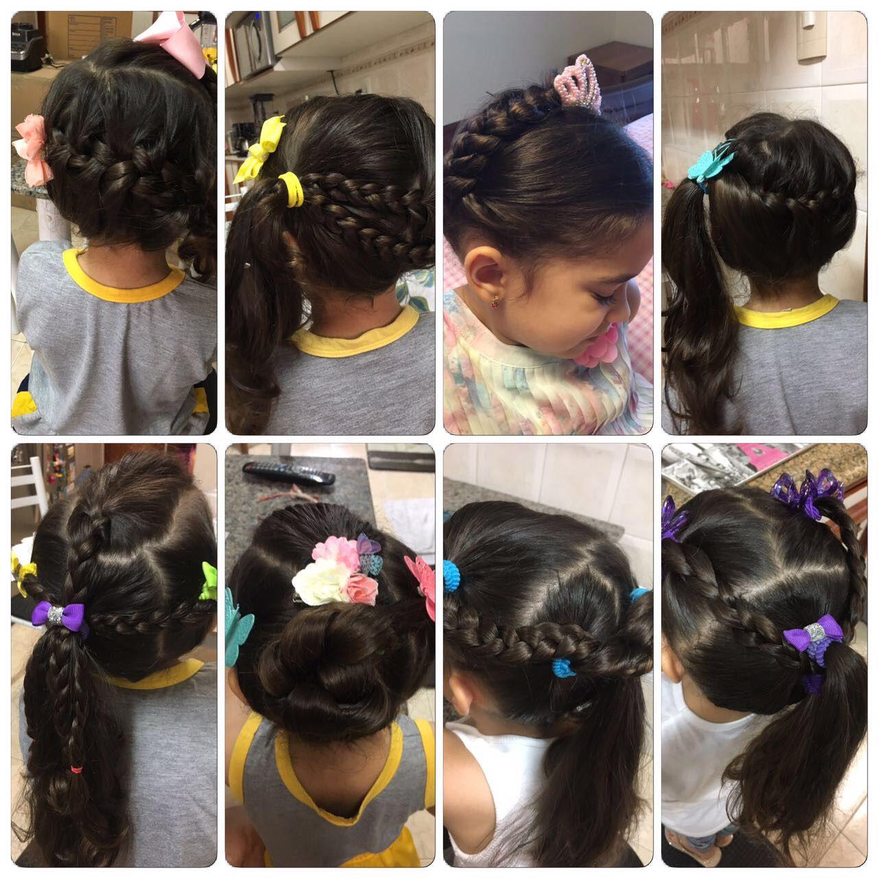 Idéias para penteados meninas hair tips pinterest