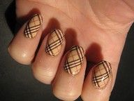Burberry plaid print nails...how neat...