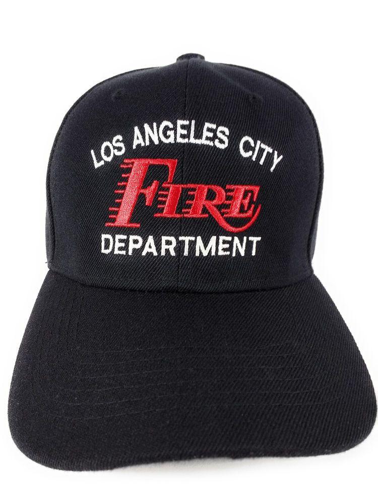 ddf26128 Los Angeles City Fire Department HAT Black w/White/Red Lettering #Unbranded  #BaseballCap
