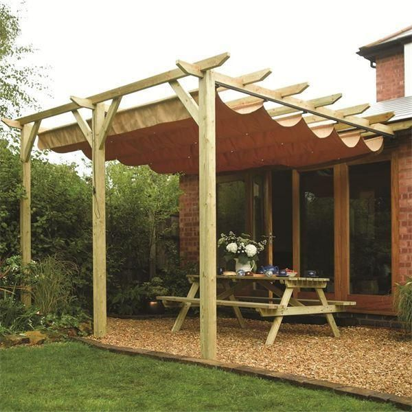 Rowlinson Sienna Wooden Lean To Canopy Pergola Canopy With Pergola:)