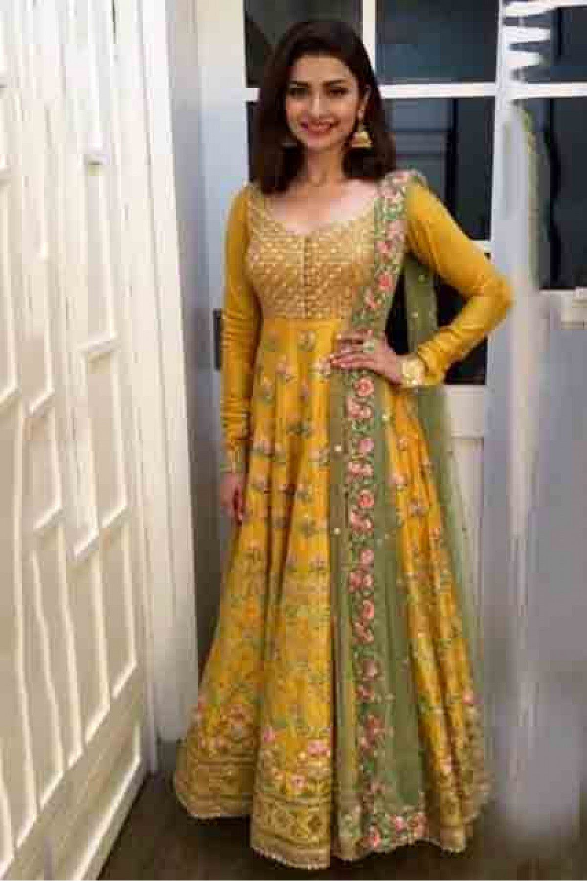 58d9d73012 Buy Banglori Silk Anarkali Suit In Yellow Colour @ ninecolours.com. Free  Shipping in India available!