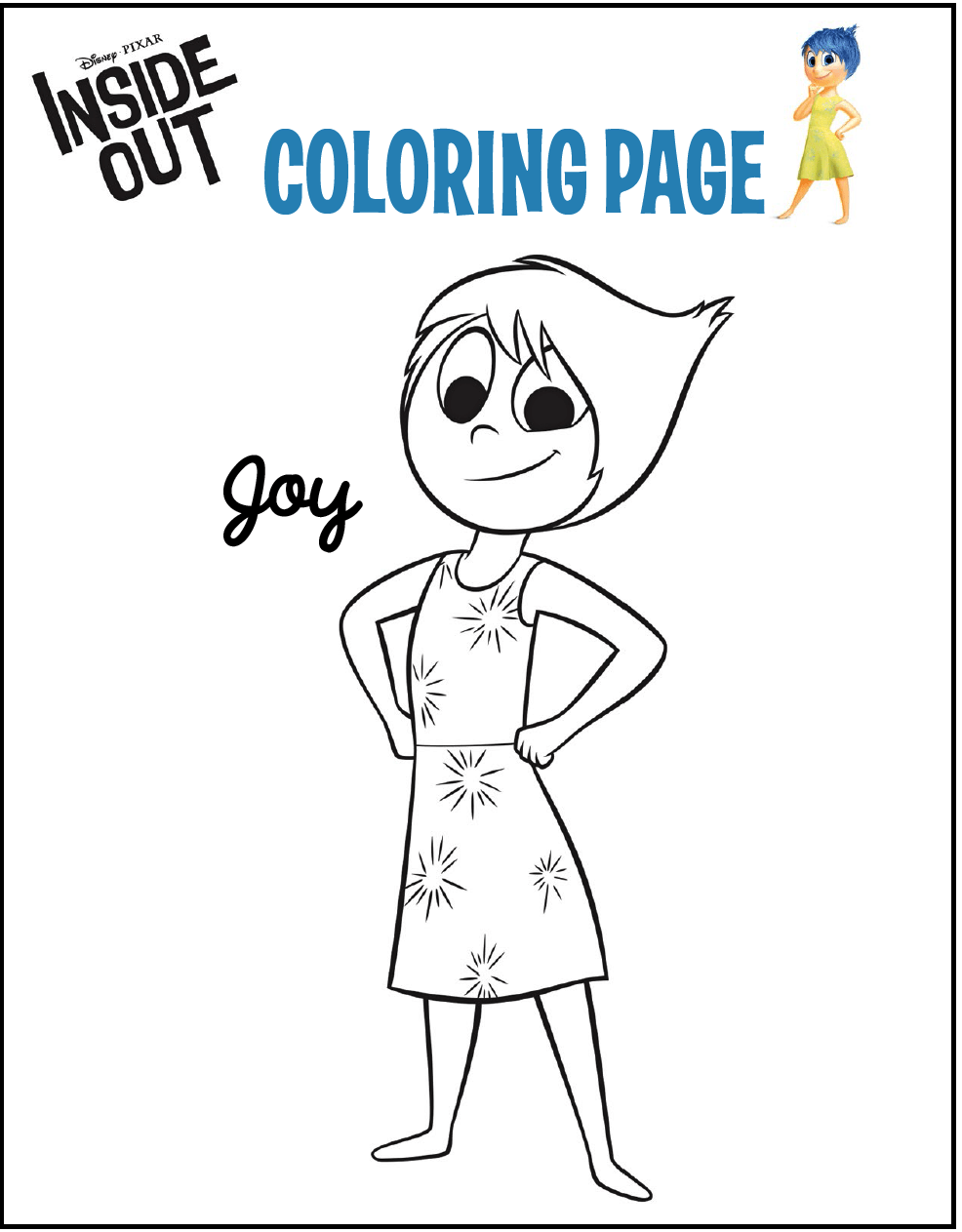 joy from inside out coloring page | animation series coloring and ...