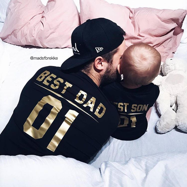 50896e00fc7 Best DAD and Best SON matching family shirts