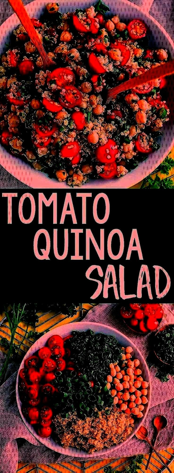 quinoa recipe to our meal prep game! This Tomato Quinoa Salad is fast, flavorful, and easily made i