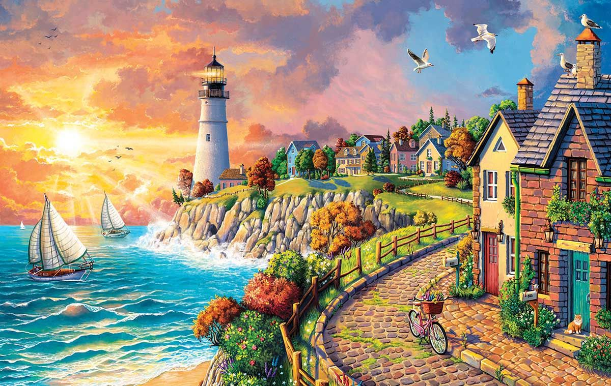Sunsout Evening at the Coast Jigsaw Puzzle
