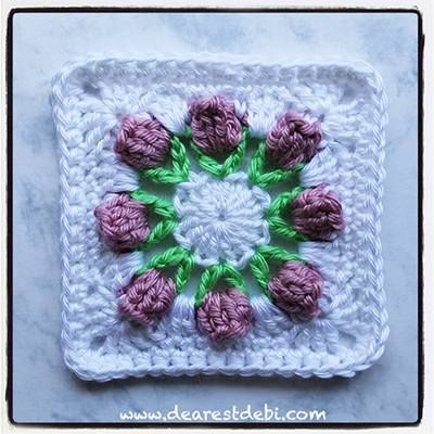Lovely Crochet Afghan Squares For A Flower Afghan 24 Free Patterns