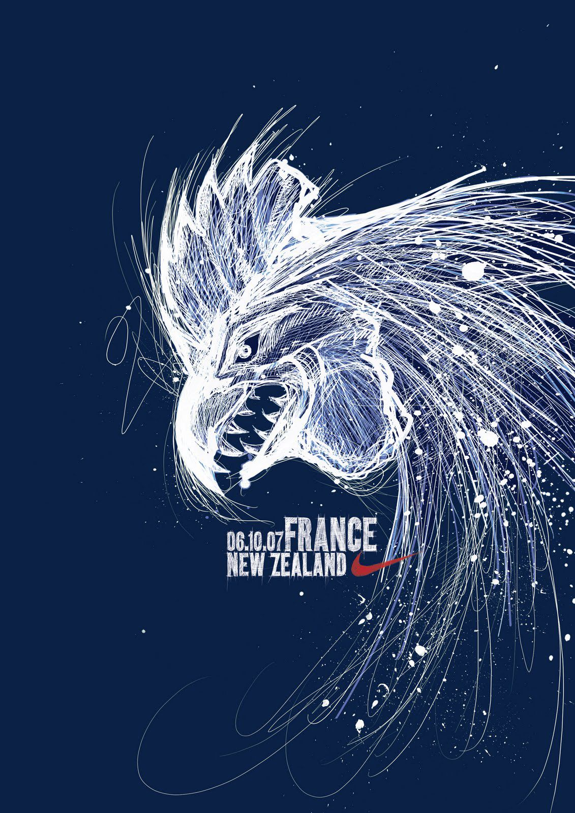 Nike France Vs New Zealand France Rugby Nike Poster Rugby World Cup