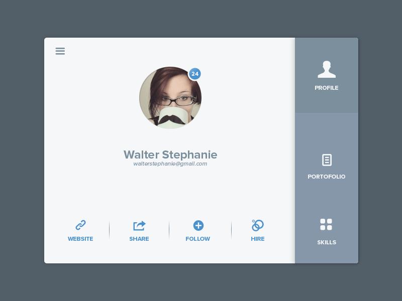 User Details Rebound App Design Interactive Design Web Design