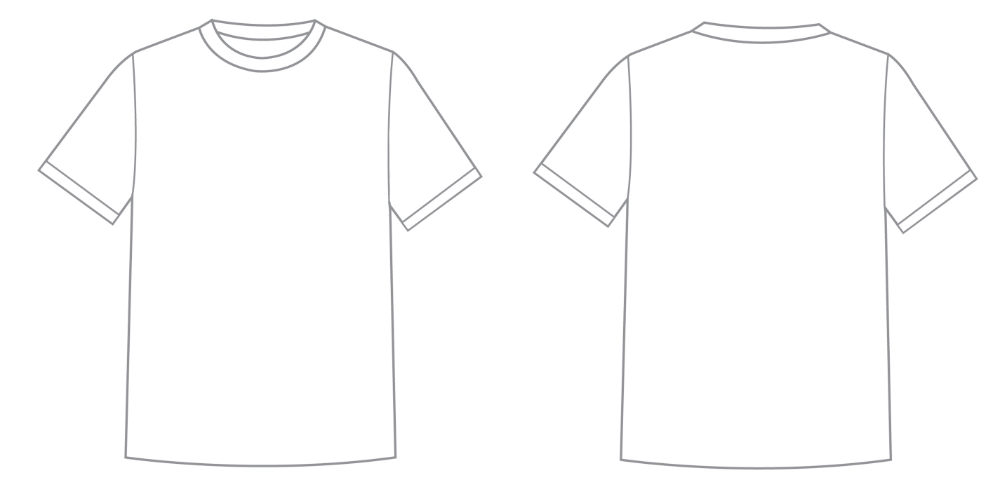 Download Blank Tee Shirt Template 2 Professional Templates Kaos Template Desain