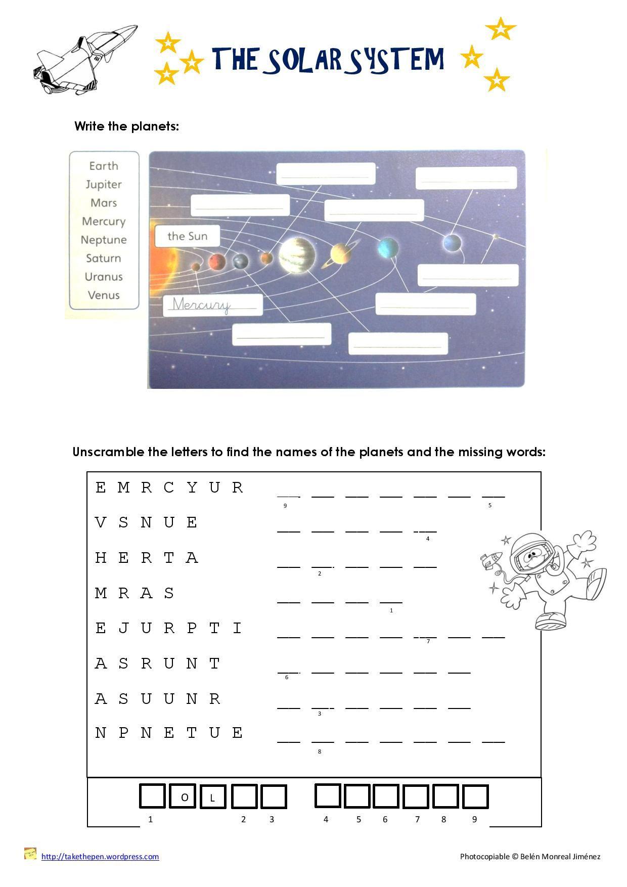 Uncategorized Solar System Worksheets Free solar system worksheet english pinterest worksheet