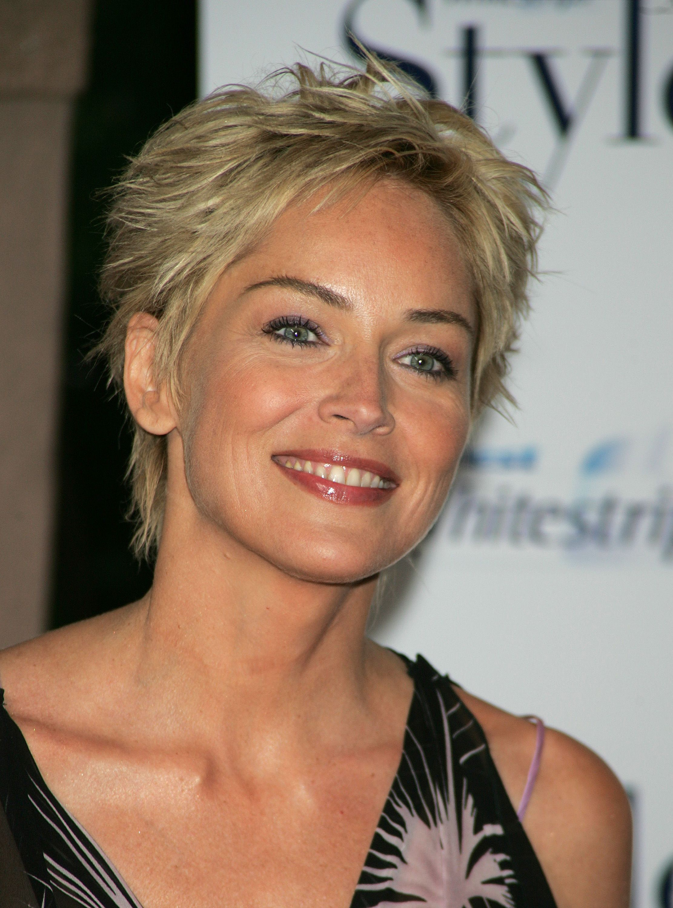 Sharon stone spiky short haircut for older women over 50 getty images - Short Pixie Cut For Women Over 50 Sharon Stone Hair Style Sharon Stone Haircuts