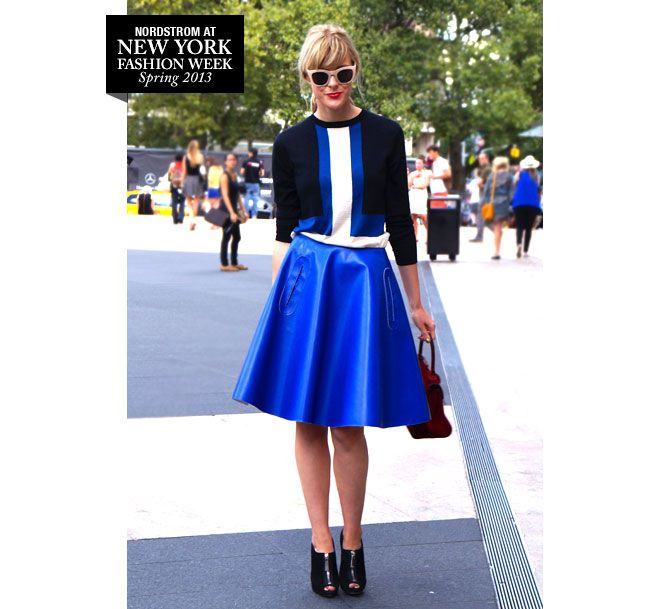 Street Report: Sophie Outside DVF » The Thread | Nordstrom.com #nyfw