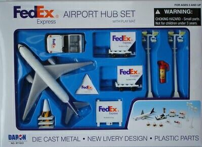 deAO Deluxe 55-Piece Kids Commercial Airport Play Set in Storage Bucket with Toy