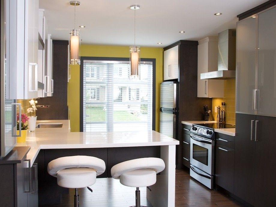 cuisine jaune blanche et noire armoires design plus d coration pinterest armoires. Black Bedroom Furniture Sets. Home Design Ideas
