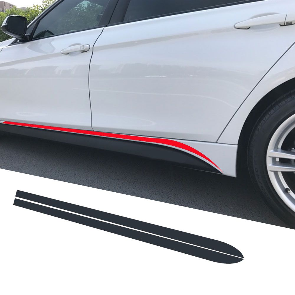 Side Skirt Stripe Sticker Body Decal M Performance For Bmw 3