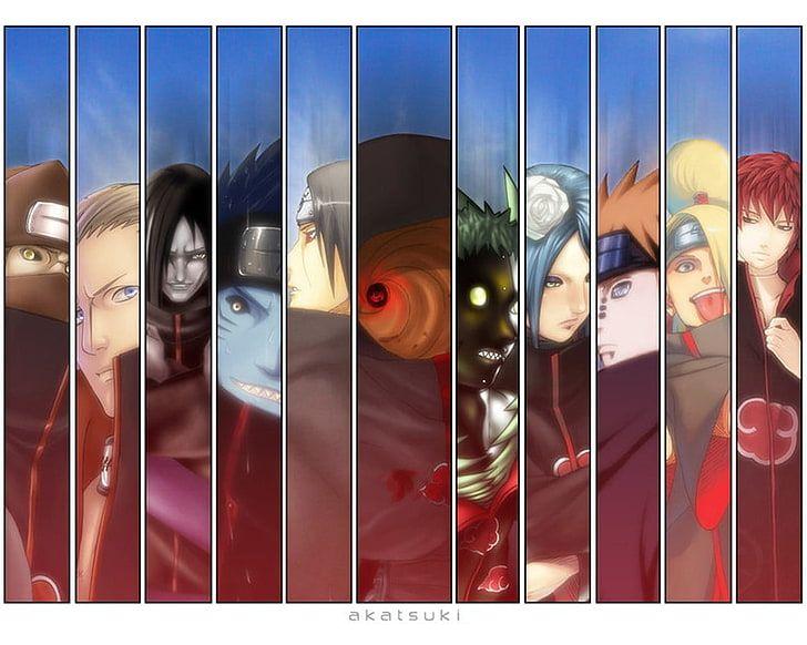 Akatsuki wallpaper, Naruto Shippuuden, panels, Kakuzu