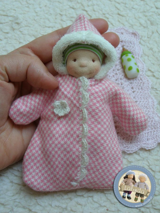 Waldorf inspired mini baby doll by Lalinda.pl