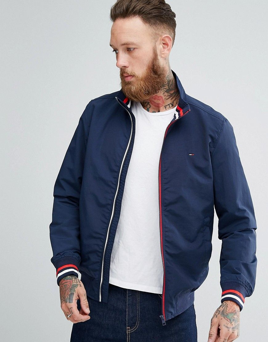 f24f623dba01 TOMMY HILFIGER STRIPE EDGE BOMBER - NAVY.  tommyhilfiger  cloth ...