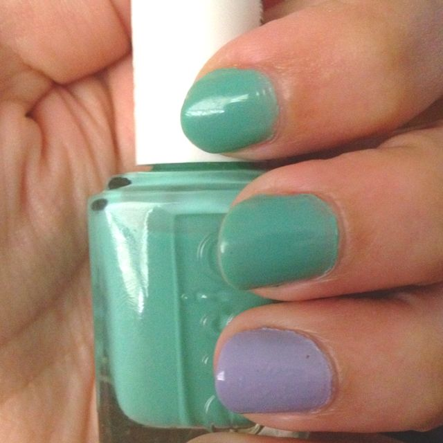 Turquoise and Caicos with Lilacism by Essie.