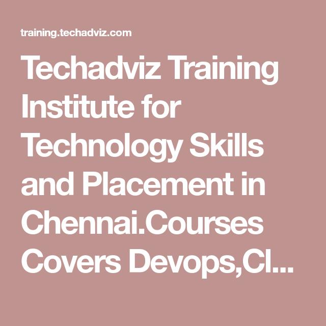 Techadviz Training Institute for Technology Skills and