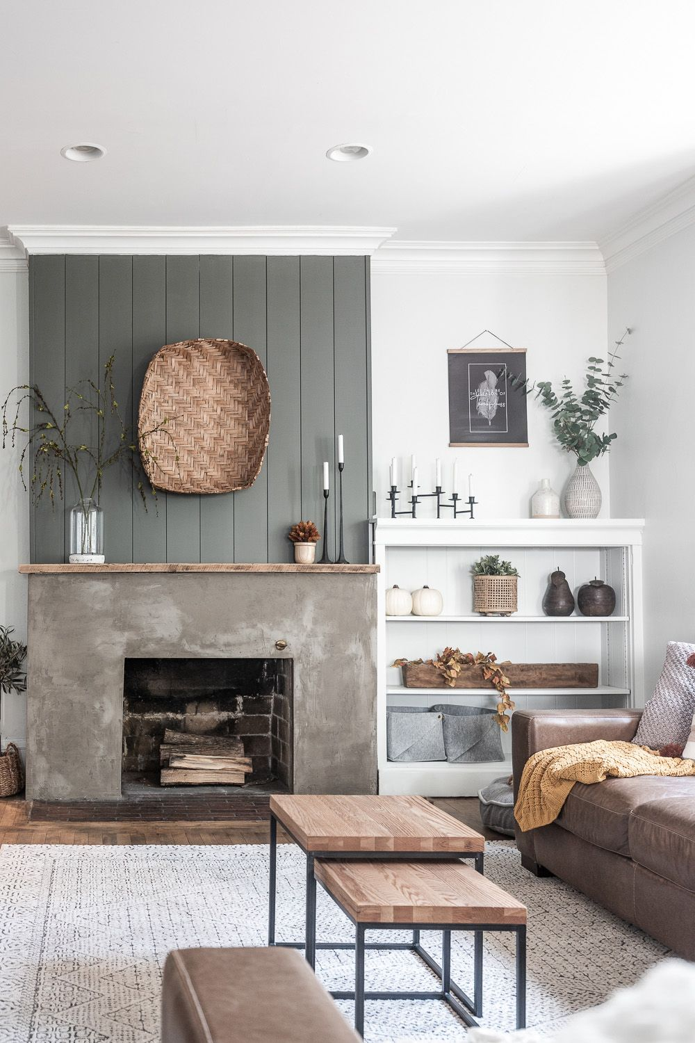 Modern Traditional Fall Decor in the Living Room - Cherished Bliss