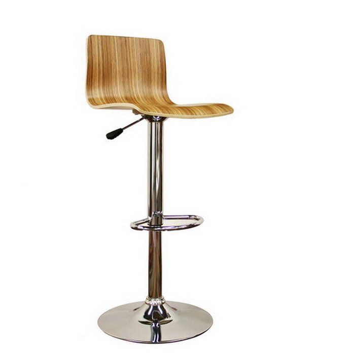 Adjustable Bar Stools With Wood Seats With Backs | Lidell Style Modern  Adjustable Height Swivel Wood