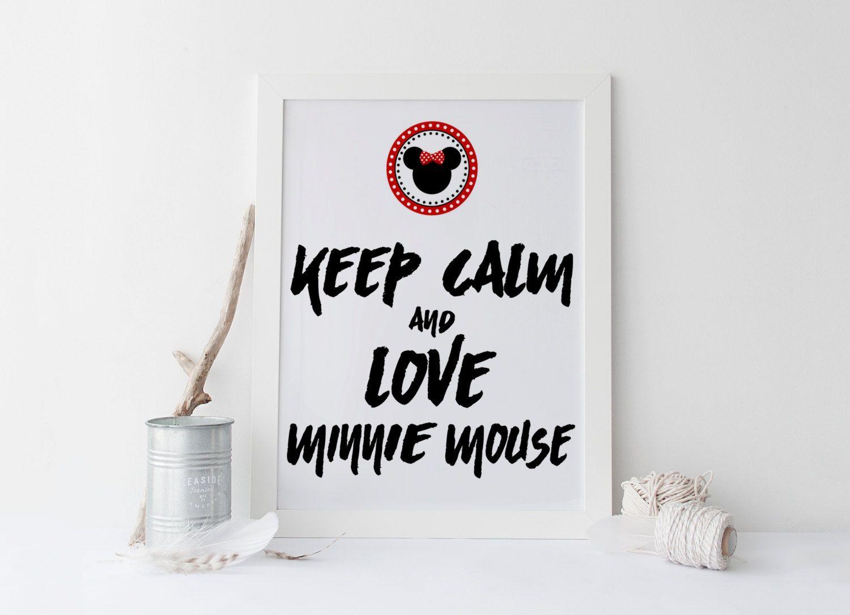 Printable art MINNEY QUOTE print,  typography print, disney print, prints and quotes, home decor, children gift idea, keep calm , minnie von sweetandhoneyprints auf Etsy