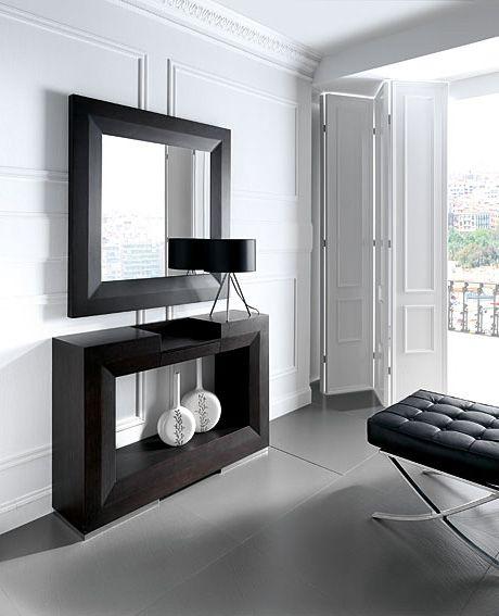 consola y espejo twin conjunto muebles
