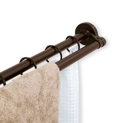 The Neverrust Aluminum Double Straight Shower Rod From Titan