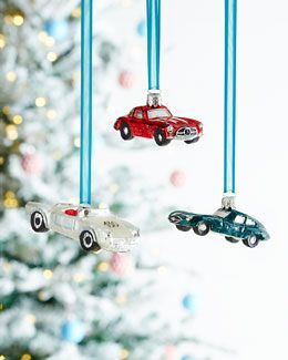 -5XLJ Green Jaguar Christmas Ornament Silver Sportster Christmas Ornament Red Mercedes Christmas Ornament