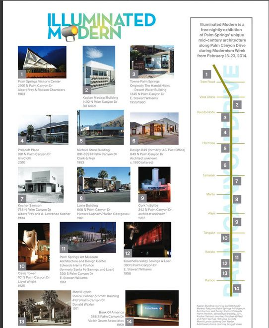 Image result for palm springs architecture tour map | Travel To Do\'s ...