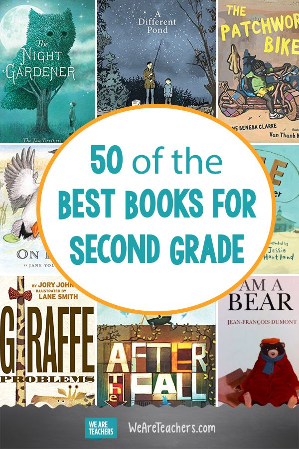 50 of the Best Books for Second Grade. This list of the best second grade books includes picture books, biographies, non-fiction and chapter books. There's something to get every reader hooked! #secondgrade #books #reading