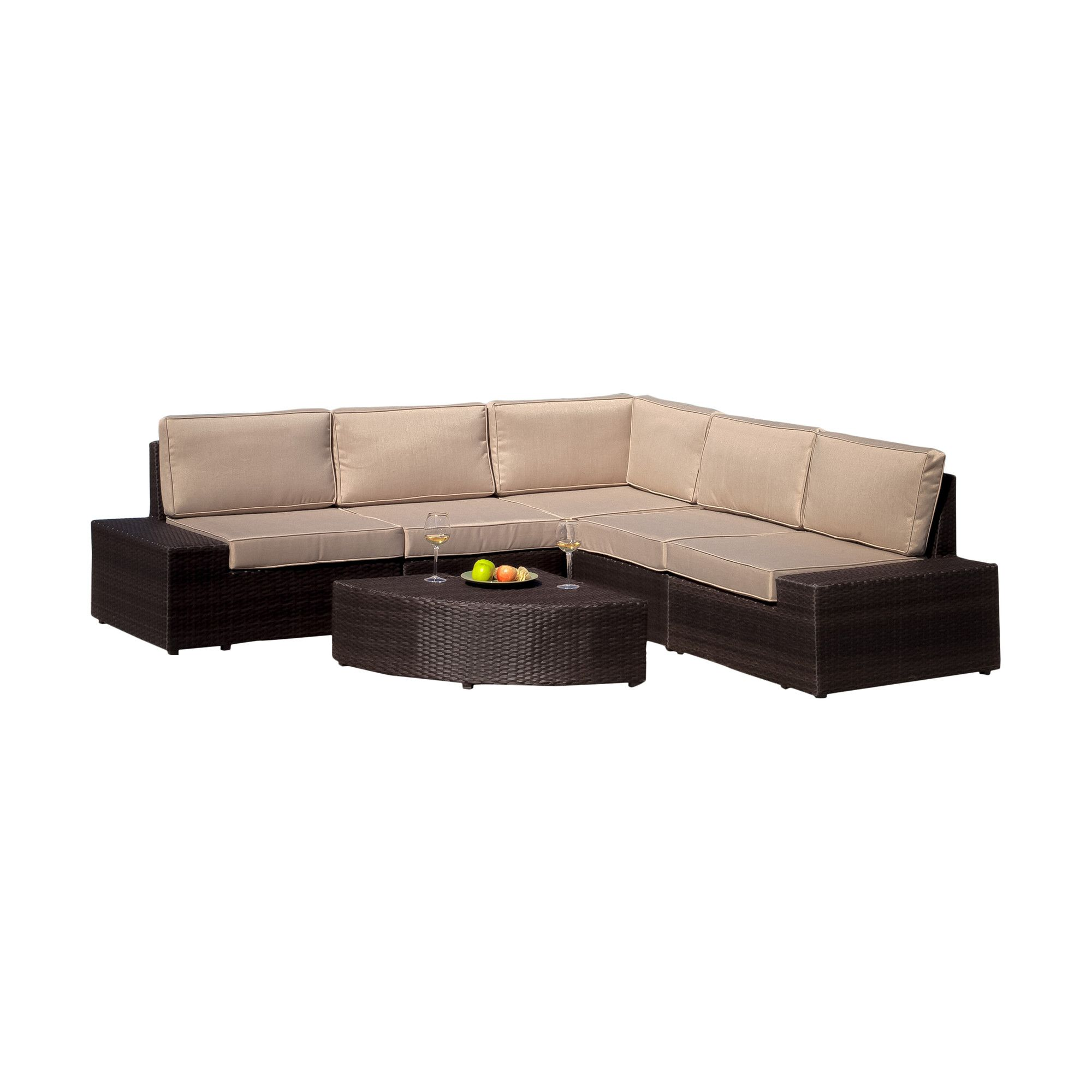 Home Loft Concept Santa Cruz 6 Piece Seating Group With