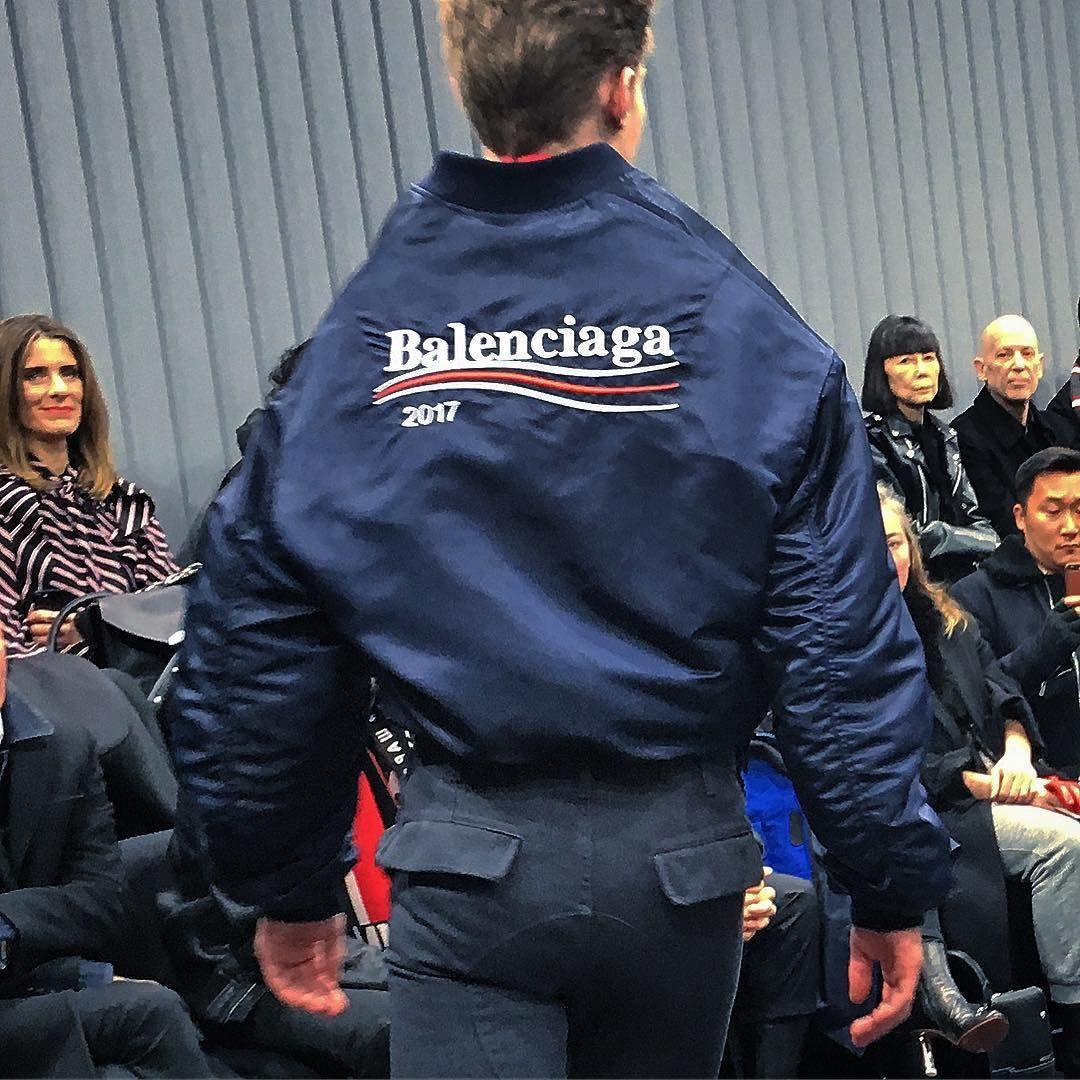 Balenciaga Bernie Sanders Campaign Example Of How Recent Political Events Are Already Influencing Fashion Designers Fashion Vogue Editorial Fashion