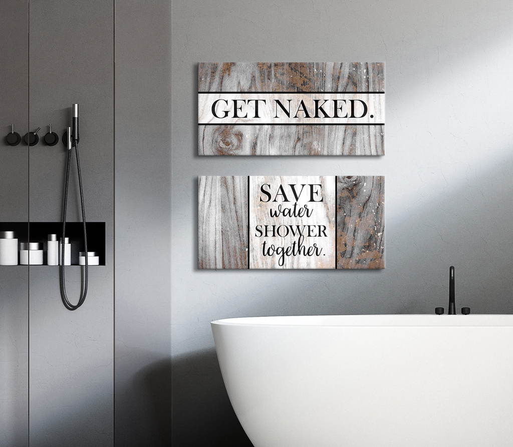 SET OF 2 CUTE BATHROOM WALL ART SAYINGS HUGE SALE BUY ANY PIECES OR MORE AND SAVE 10 PLUS FREE SHIPPING Questions Call Us 1 855 876 5272 From