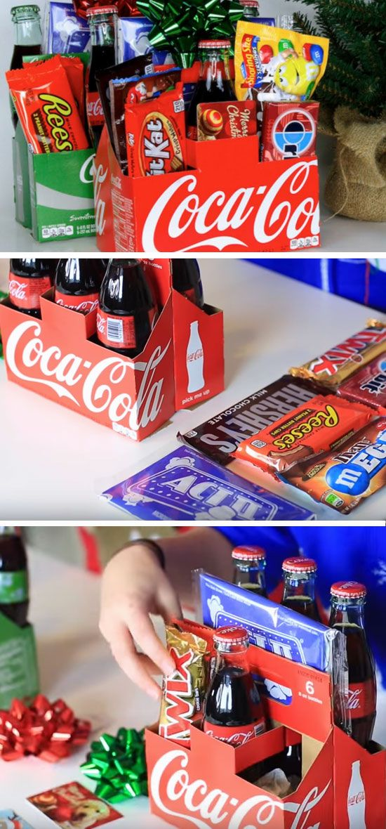 Soda Gift Pack Click Pic for 21 DIY Christmas Baskets for Teens
