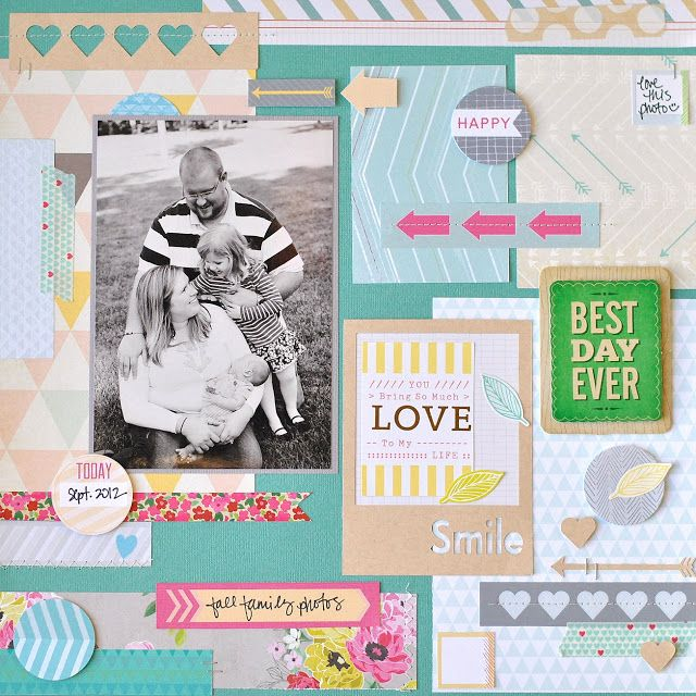 {creative crafting}: {scrapbook circle - best day ever}