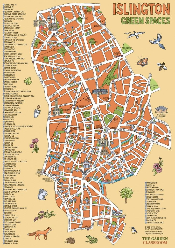 North Of London Map.Islington Green Spaces Infographics Old Maps Of London How To
