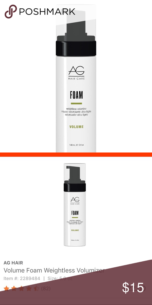 AG Hair Care Foam Never used! Alcoholfree and humidity