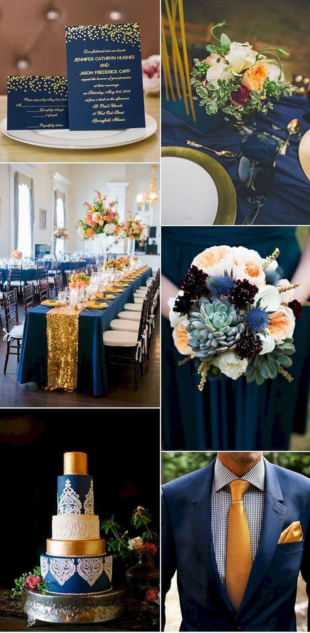40 Gorgeous Navy Blue Wedding Party Decoration Ideas Wedding