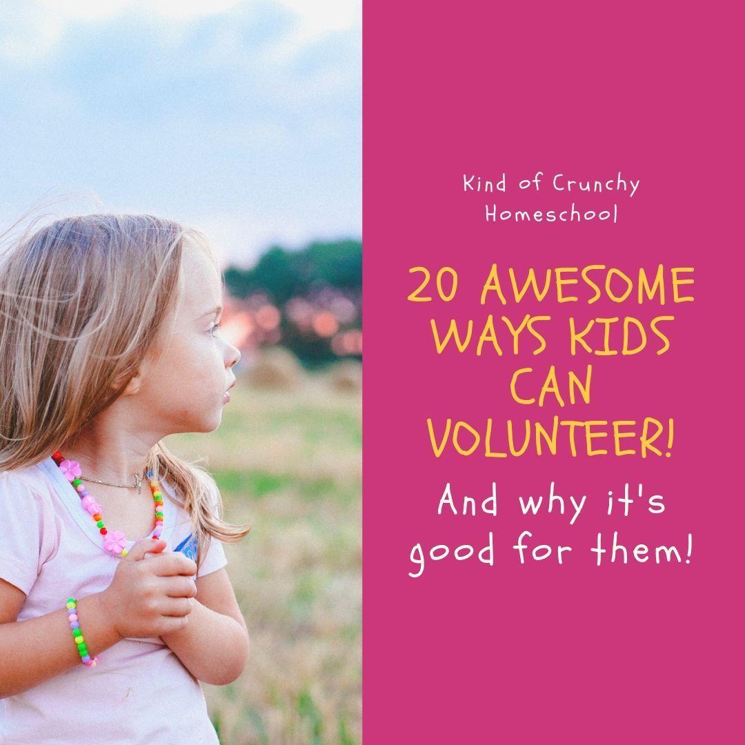 20 Awesome Ways Kids Can Volunteer Homeschool, Life