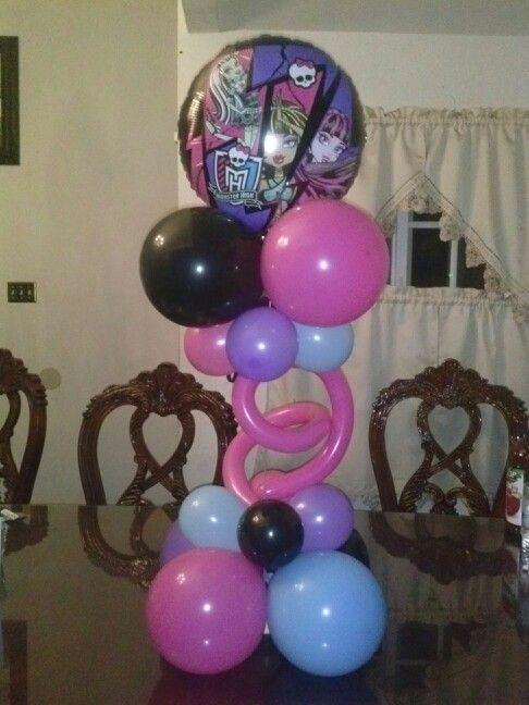Birthday party themes · Monster high balloon centerpiece & Monster high balloon centerpiece | Birthday Balloon Figures ...