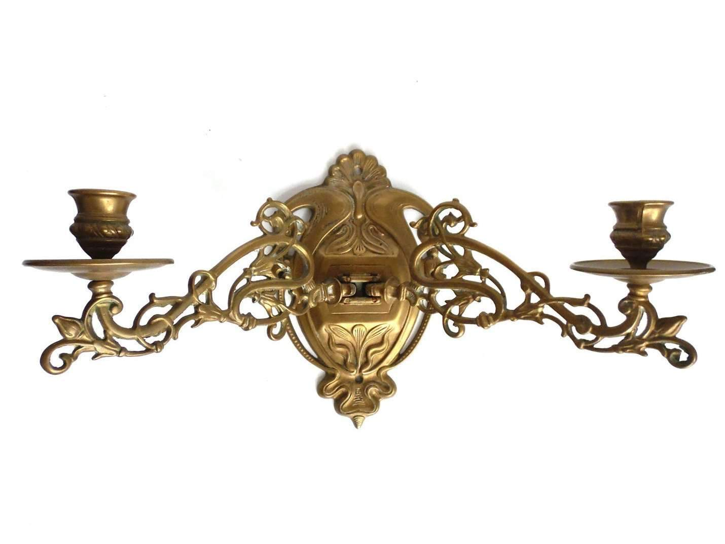 Candle Holder Wall Sconce Antique Solid Brass Victorian Piano