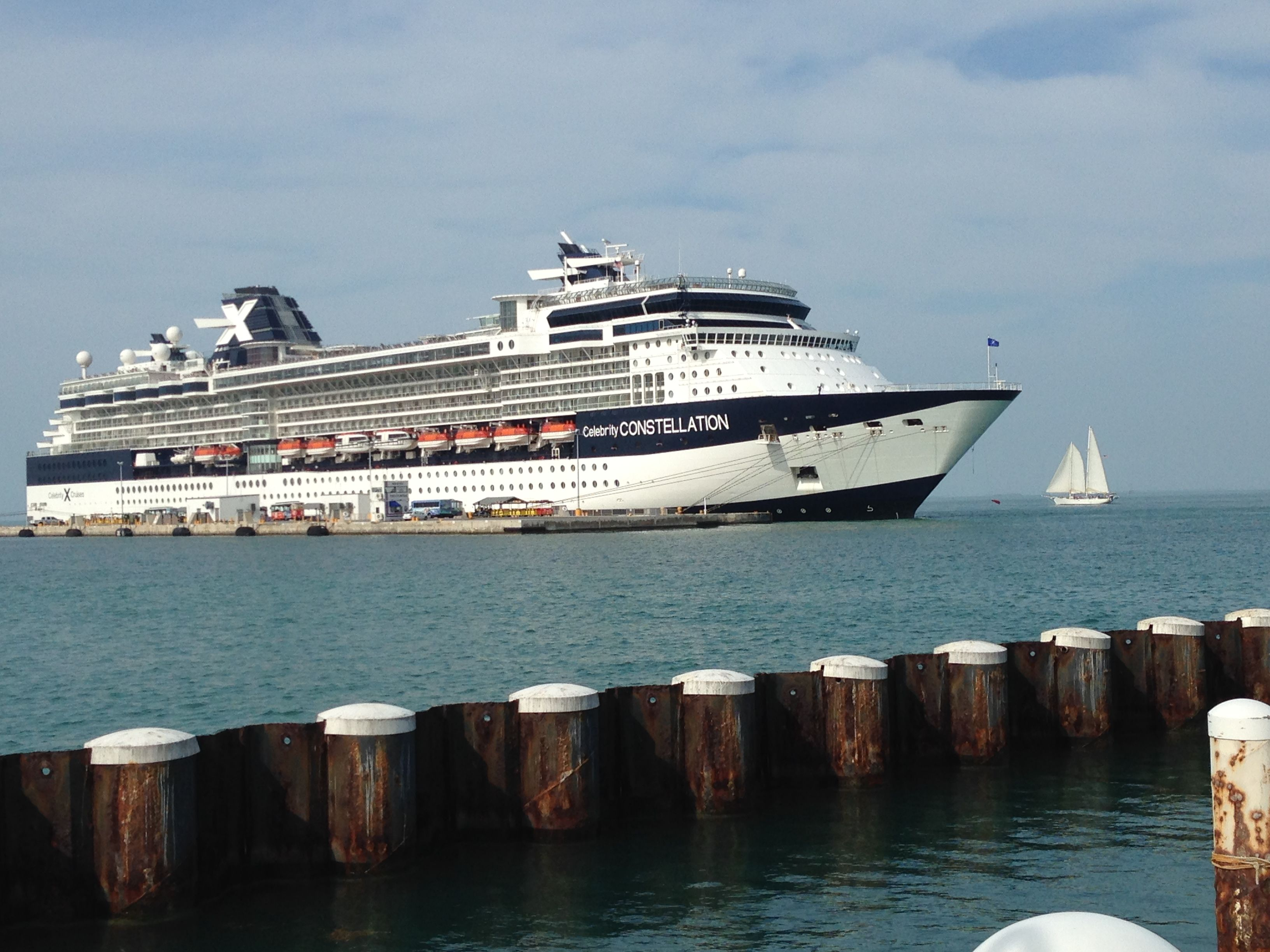 Cruise ShipAnchored At Navy Station Key West Key West As I See - Cruise ships key west